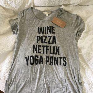 NWT wine pizza Netflix shirt